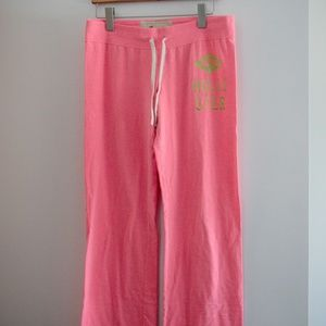 Hollister Lounge Pants in Pink, Size M